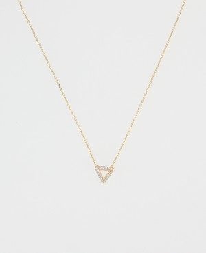 Collier Plaqué or triangle...