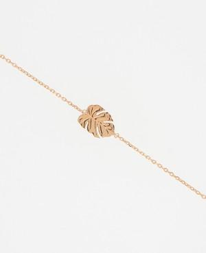 Bracelet plaqué or feuille