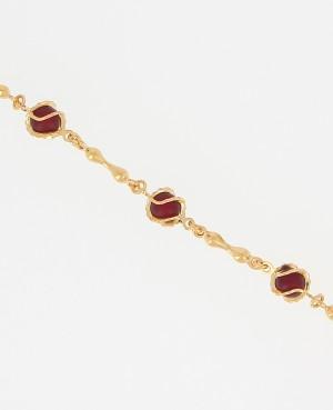 Bracelet plaqué or perles...