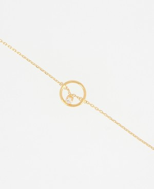 Bracelet plaqué or anneau...