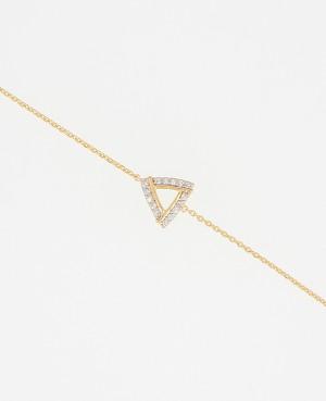 Bracelet plaqué or triangle...