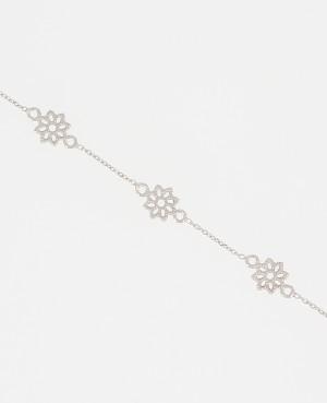 Bracelet argent fleurs...