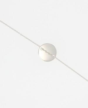 Bracelet argent médaille polie