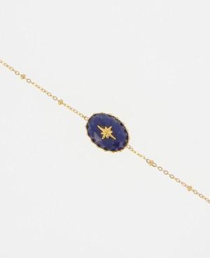 Bracelet Acier doré orné...