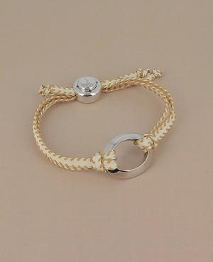 Bracelet cordon anneau...