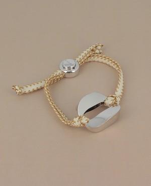 Bracelet cordon maillon ovale