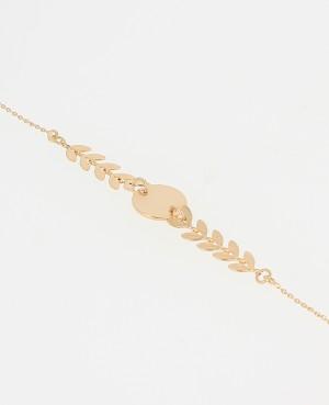 Bracelet Plaqué or feuilles...