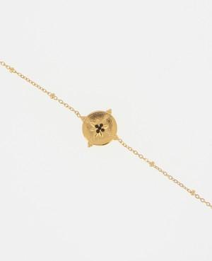 Bracelet acier doré étoile...