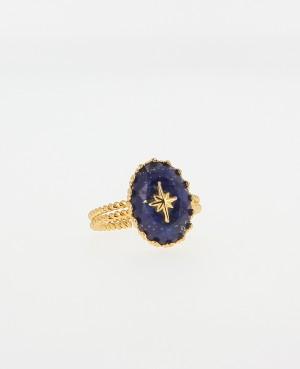 Bague Lapis Lazuli Orné