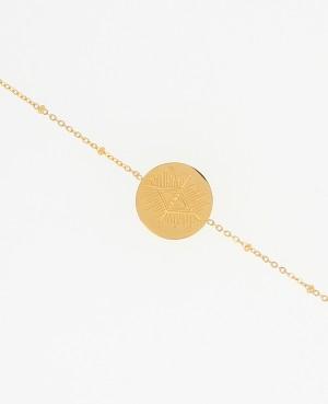 Bracelet médaille œœil en...